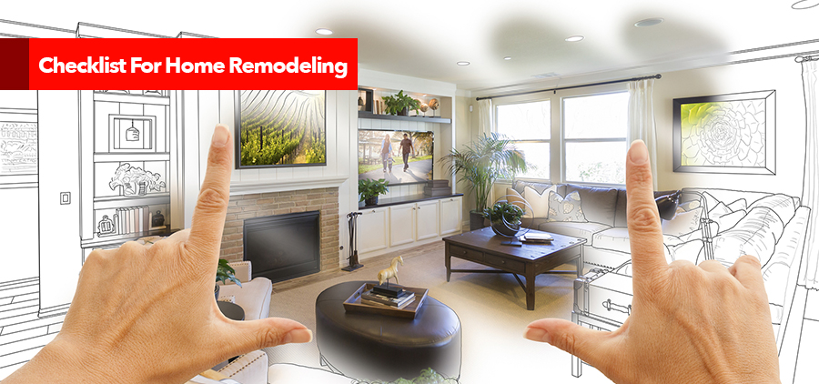 Checklist For Home Remodeling