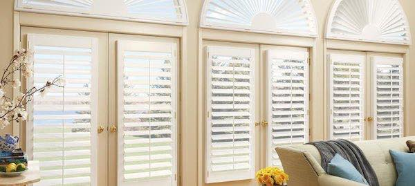 Interior white custom door shutters.