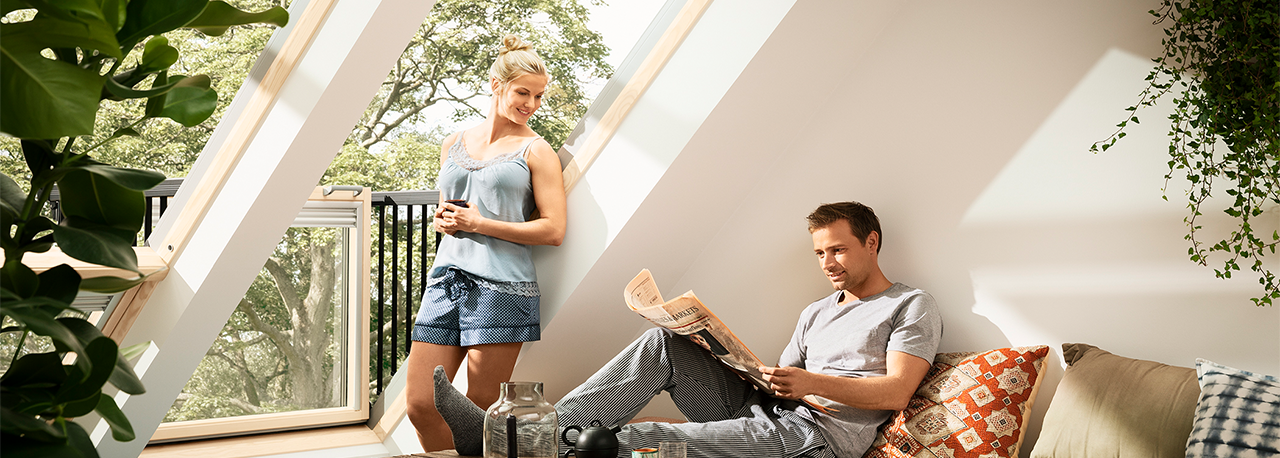velux cabrio balcony roof windows experience resurgent. Black Bedroom Furniture Sets. Home Design Ideas