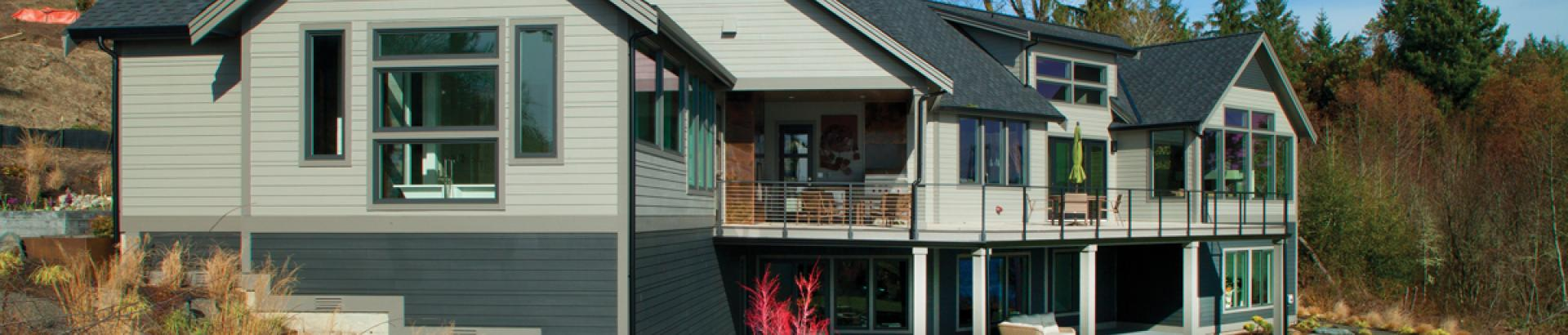 painted vinyl windows by Milgard