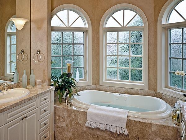 Milgard Ultra Series fiberglass windows seen in a bathroom.