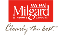 Milgard Windows and Doors logo and slogan.