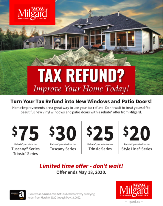 Turn Your Tax Refund into New Windows and Patio Doors!